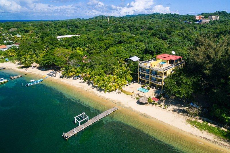 View of Villas Del Playa from the air (were bottom left unit) - Villa Del Playa #2 - Roatan - rentals