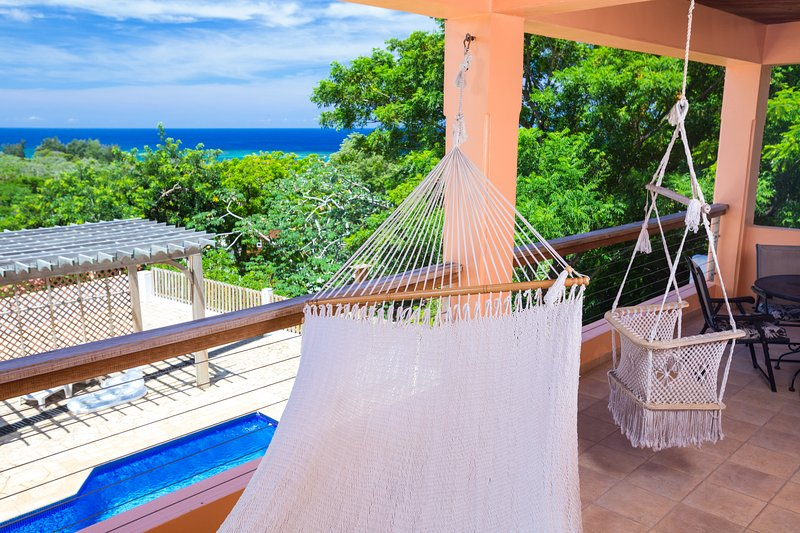 Relax on the hammocks and enjoy the sunset - Views of Sunset Estates 1A - West End - rentals