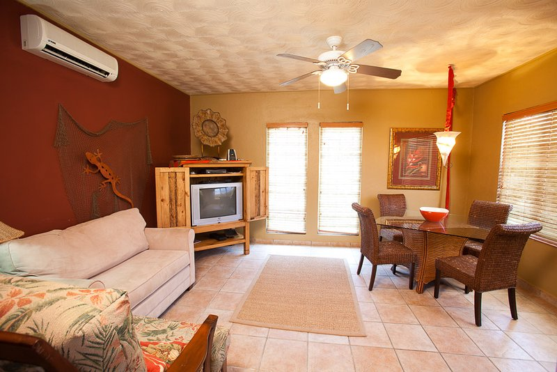 Living room and dining area - West Bay Mall Condo #10 - Roatan - rentals