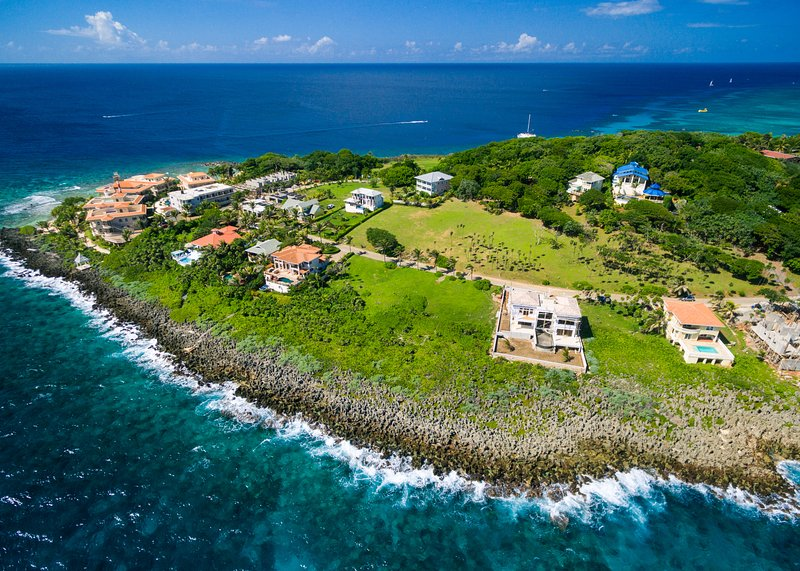 Overhead of Lighthouse Estates community - Coral View - Roatan - rentals
