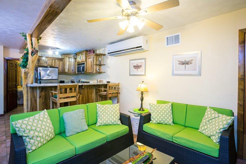 Living area is right off the kitchen - Playa Bonita 1 bedroom - Roatan - rentals