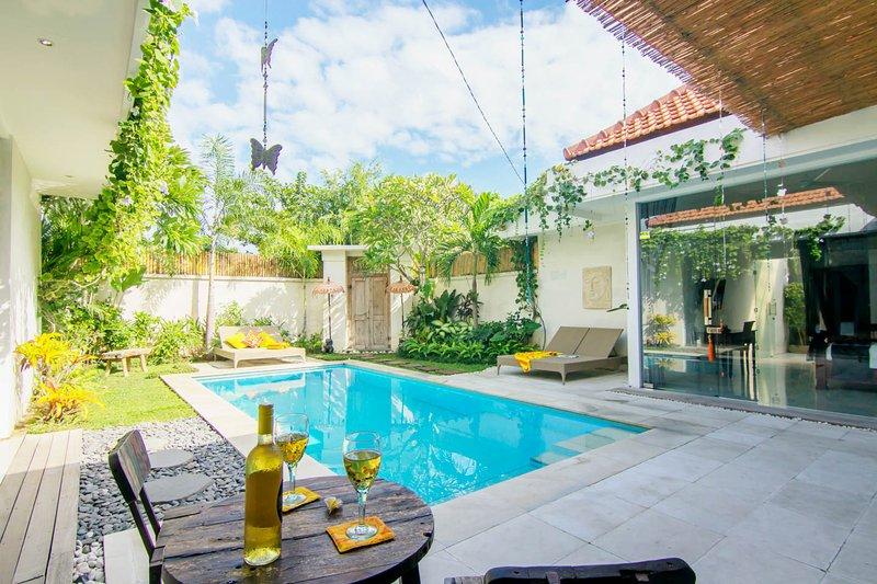 Upgraded pool area, giving you more space to relax in.  - Seminyak VILLA 888 DUA Quiet, 200m from Eat Street - Seminyak - rentals