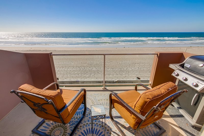 Oceanfront 3rd story deck with BBQ - JERSEY3 - Mission Beach - rentals