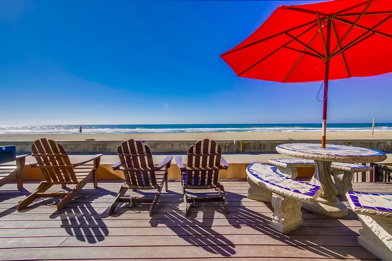 patio overlooking the boardwalk and beach (perfect for sunsets) - JERSEY2 - Mission Beach - rentals