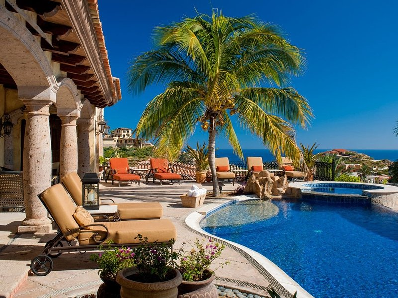 Beautiful patio area with amazing ocean views - Villa Maria - 6 Bedrooms - Cabo San Lucas - rentals
