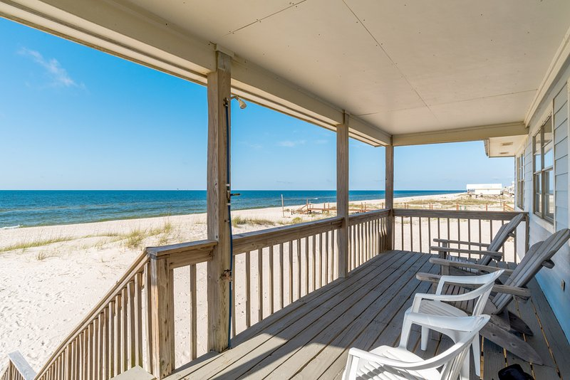 Stunning Beach Front Views from the Covered Deck - Catalina - Fort Morgan - rentals