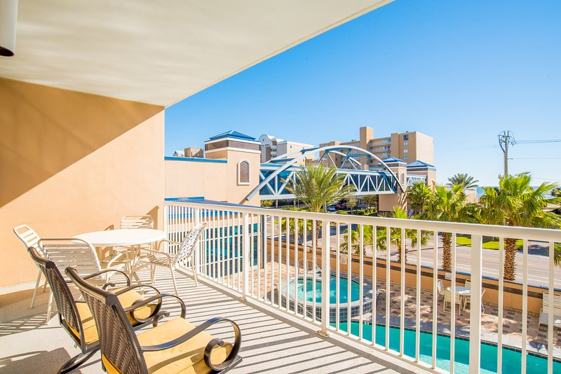 Balcony is spacious and ready for family memories to be made! - Crystal Towers #207 - Gulf Shores - rentals