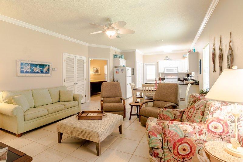 Spacious Living Area with comfortable seating. - Adagio (4275 B) - Orange Beach - rentals