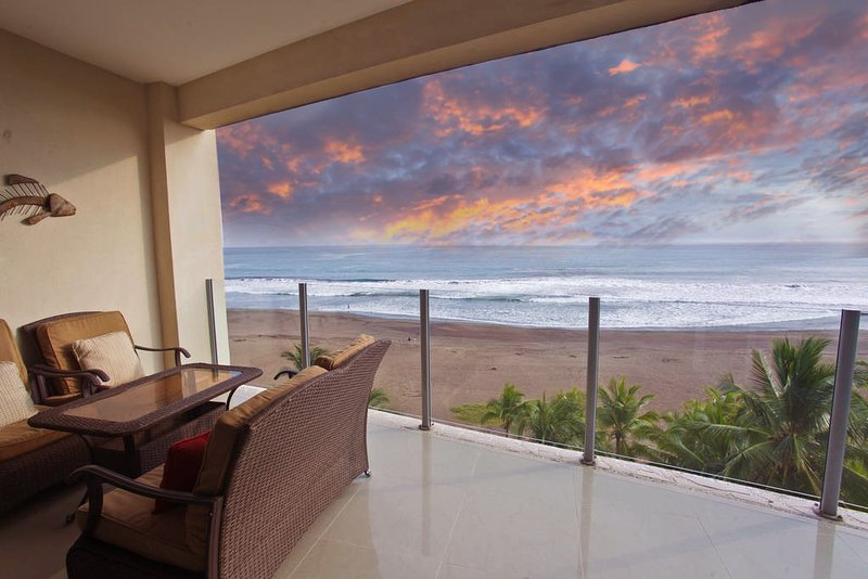 Amazing sunsets from private balcony - Diamante del Sol 601N 6th Floor Ocean View - Jaco - rentals