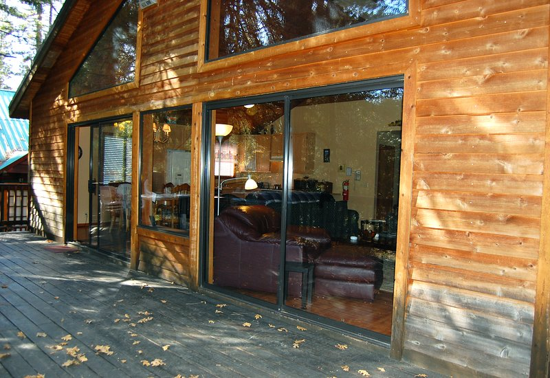 Back deck.  After winter of 2014 new deck furniture and refinishing outside of cabin. - (5N) Edmond's Place - Wawona - rentals