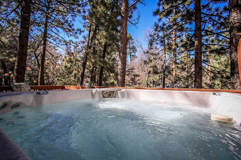 Spa on deck - 1092- Great Woods - Big Bear City - rentals