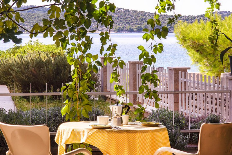 Morning Breakfast with Sea view  - A yard with sea view - Zaboric - rentals