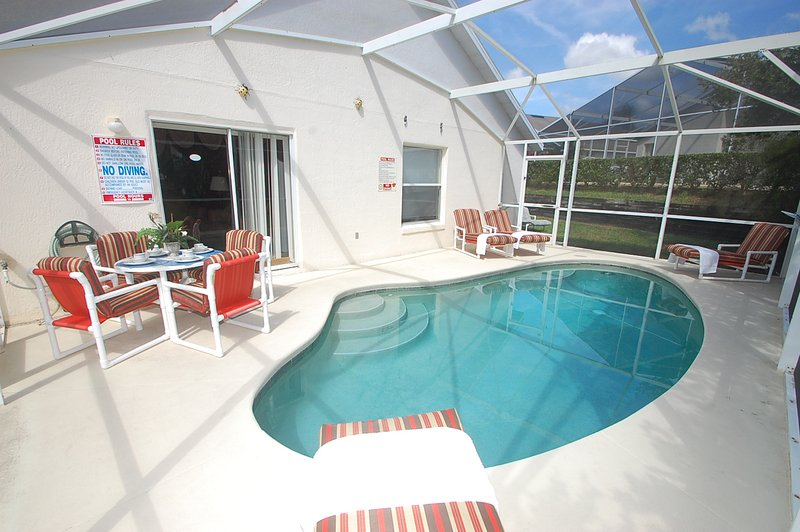 Pool area with screen - 114DW-Wilcox Way - Davenport - rentals