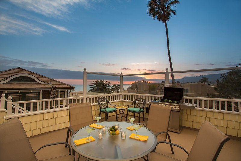 Enjoy the sunset from the Upper Deck - Beach Haven - Carpinteria - rentals