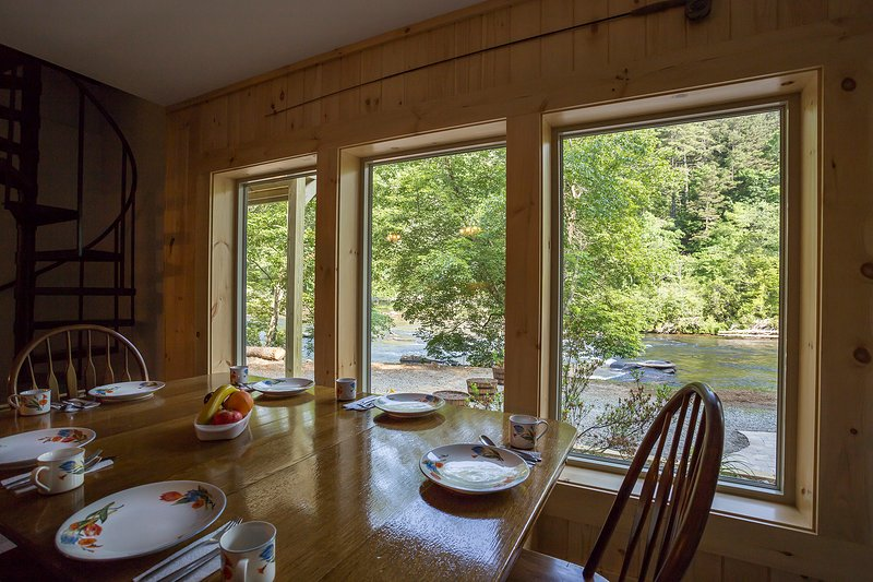 Dining with a view - River Retreat - Blue Ridge - rentals