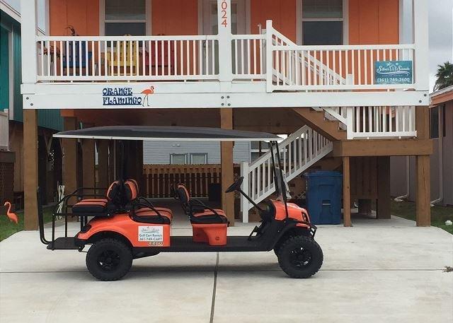 Free Golf Cart - Orange Flamingo: Brand NEW Listing, Free Golf Cart, Close to Beach - Port Aransas - rentals