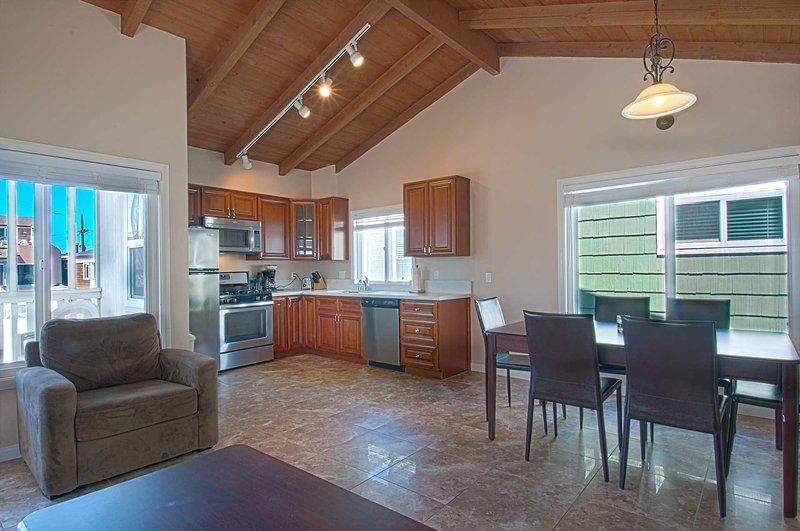 Inside photo showing kitchen & dining area - 108 B 28th Street - Newport Beach - rentals