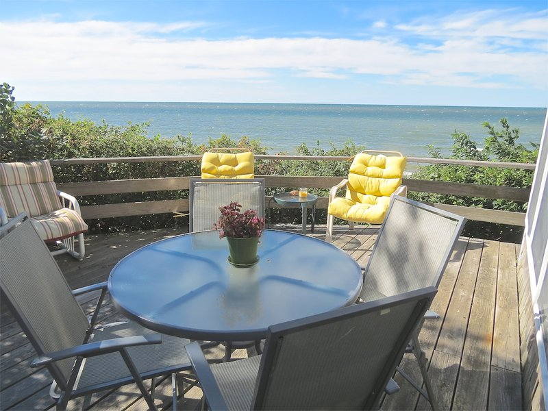 Your ring side seats for beach & bay views -- and stunning sunsets. - Two-Story Cottage Directly on Brewster Beach-090-B - Brewster - rentals