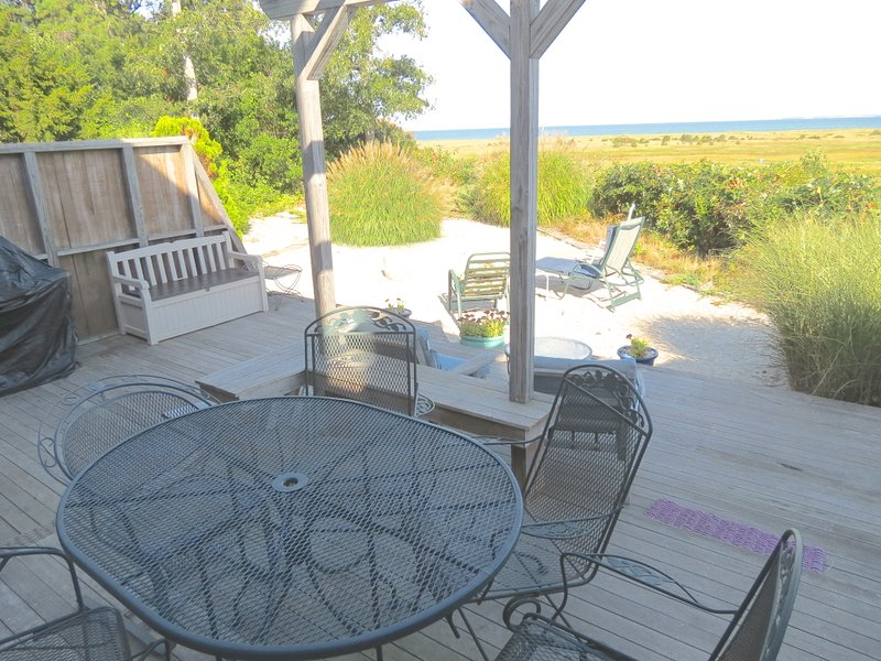 Enjoy sweeping Bay views from this spacious East Brewster home. - Striking Bay & Crosby Landing Beach Vista--168-B - Brewster - rentals