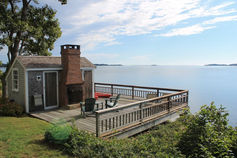 Among the most stunning views on Cape Cod are yours from the deck of this upscale home in a one-of-a-kind location directly on Pleasant Bay. - Luxurious waterfront home on Pleasant Bay : 2261-H - Harwich - rentals