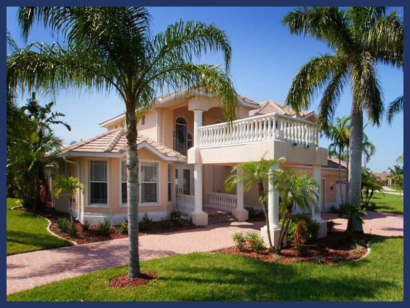 Amazing luxury villa-6 bedrooms-Pool-Circular driveway-Boat dock-Spectacular views-Pet friendly - Image 1 - Cape Coral - rentals