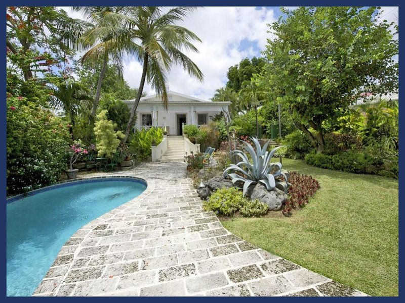 Romantic, luxury 2 bedroom villa with an outdoor jacuzzi, pool and an ocean front gazebo, the ideal retreat for breakfast, lunch - Image 1 - Durants - rentals