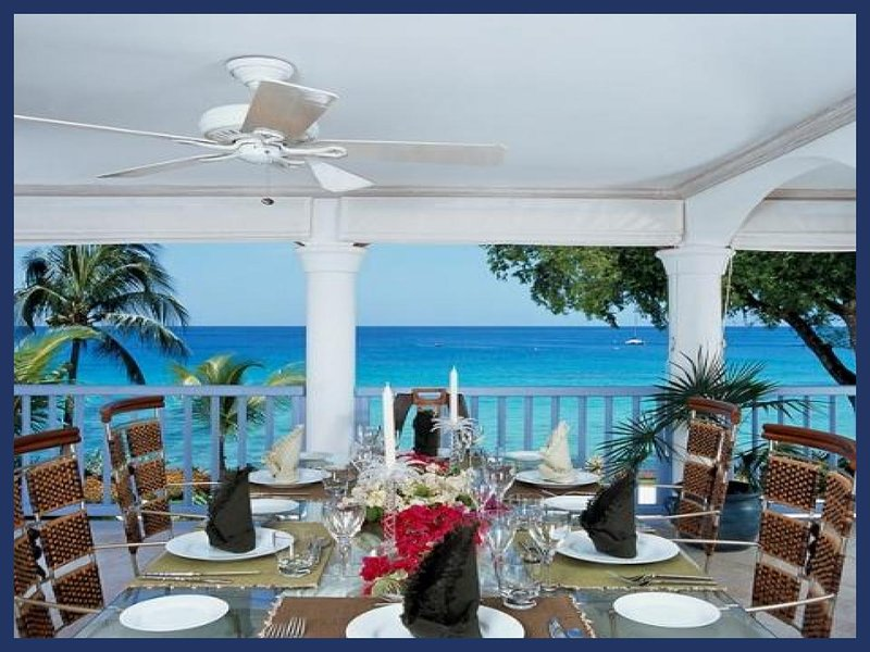 Lovely 2 bedroom apartment located on a beautiful West Coast beach in the heart of Holetown. Balcony overlooking the ocean. - Image 1 - Lascelles Hill - rentals