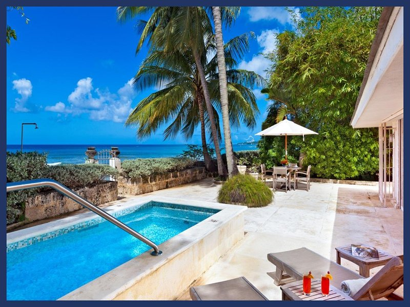Barbados 329, an enchanting one bedroom self contained cottage which forms part of the Estate. Swimming pool and outdoor dining - Image 1 - Mullins Beach - rentals