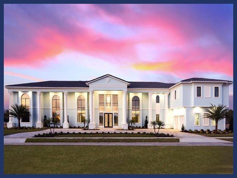 10 Bedroom mansion located just minutes from Disney with impressive golf views, huge pool and stunning design - Image 1 - Reunion - rentals
