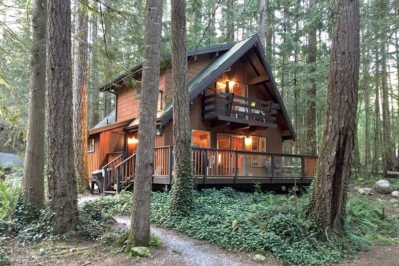 Front of the house - 27GS Pet Friendly Cabin Near Mt. Baker with WiFi - Glacier - rentals