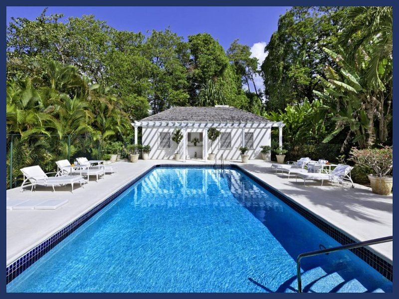 Beautiful 5 bedroom Barbados home, set within gorgeous gardens close to the beach. Private swimming pool, stunning sunset views - Image 1 - Porters - rentals