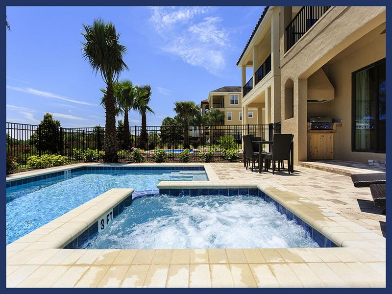 A perfect 5 bedroom home with lovely blue pool and spa overlooking golf course - Image 1 - Reunion - rentals