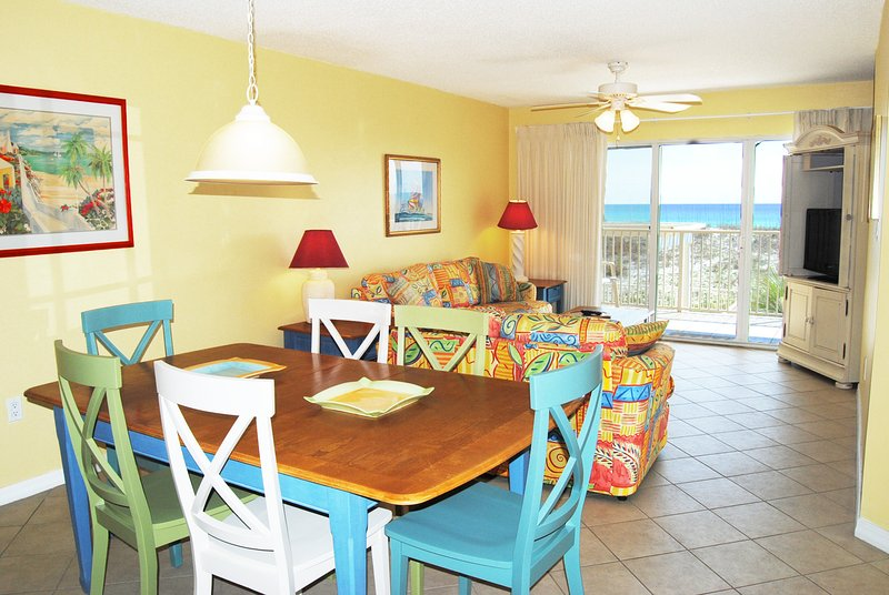 Living & Dining Area Gulf Dunes Unit 108 Okaloosa Island Florida - Gulf Dunes Resort, Unit 108 - Fort Walton Beach - rentals
