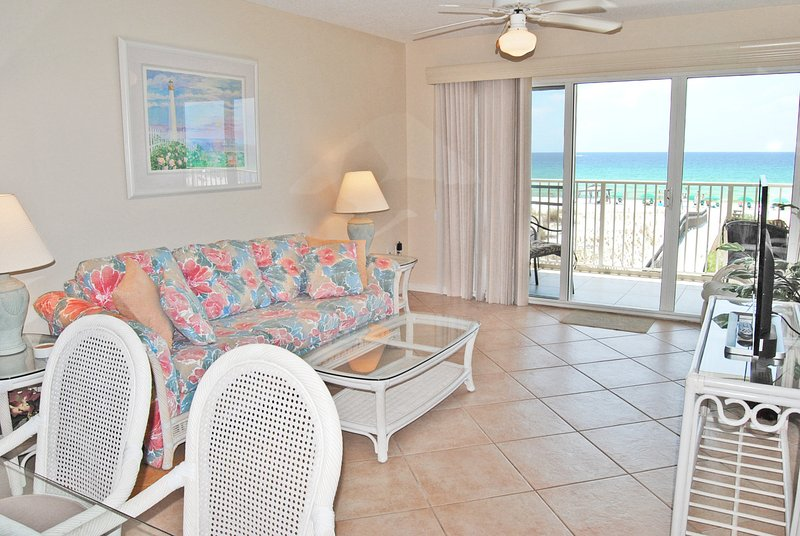 Living Room Gulf Dunes 203 Fort Walton Beach Florida Okaloosa Island Destin - Gulf Dunes Resort, Unit 203 - Fort Walton Beach - rentals