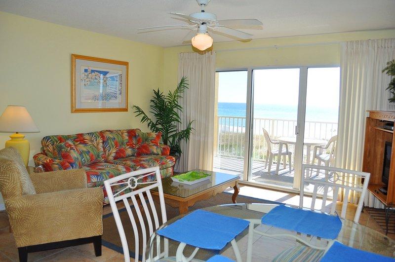 Living Room Gulf Dunes 214 Fort Walton Beach Okaloosa Island Vacation Rentals - Gulf Dunes Resort, Unit 214 - Fort Walton Beach - rentals