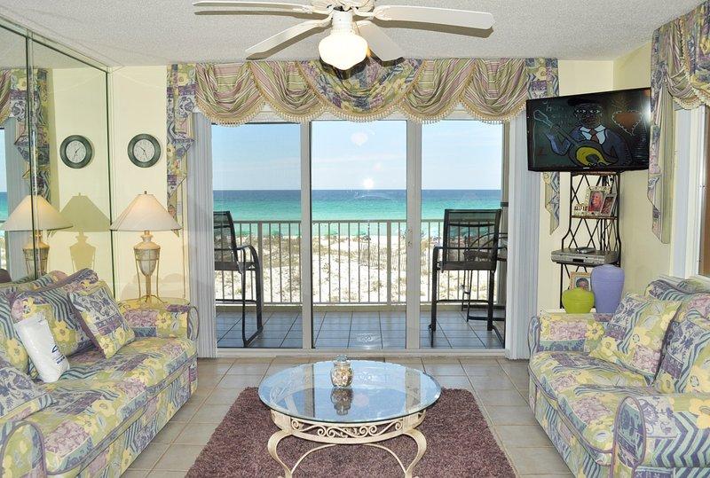 Living Room Gulf Dunes 217 Fort Walton Beach Florida Okaloosa Island Vacation Rentals - Gulf Dunes Resort, Unit 217 - Fort Walton Beach - rentals