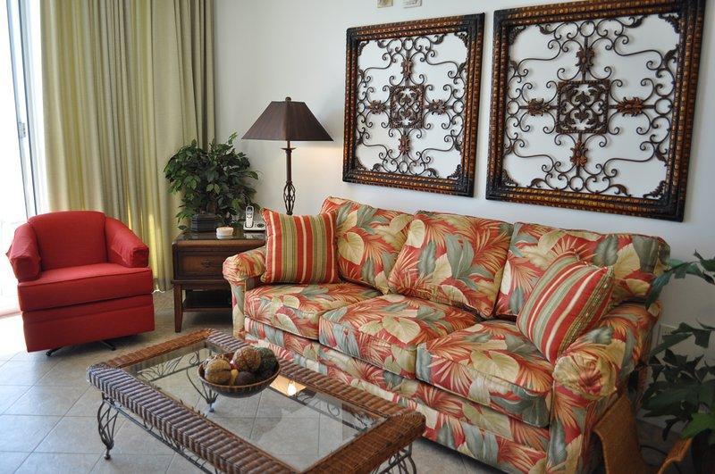 Living Room Waters Edge Resort 215 Fort Walton Beach Okaloosa Island - Waters Edge Resort, Unit 215 - Fort Walton Beach - rentals