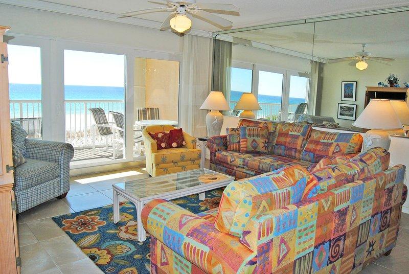 Living Room Islander Beach Resort 3001 Fort Walton Beach Okaloosa Island - Islander Beach Resort, Unit 3001 - Fort Walton Beach - rentals