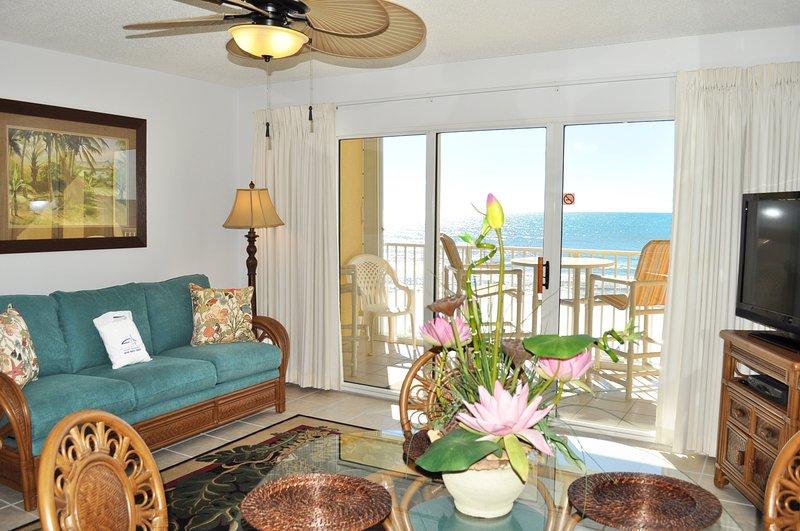 Living RoomGulf Dunes 405 Fort Walton Beach Okaloosa Island Vacation Rentals - Gulf Dunes Resort, Unit 405 - Fort Walton Beach - rentals