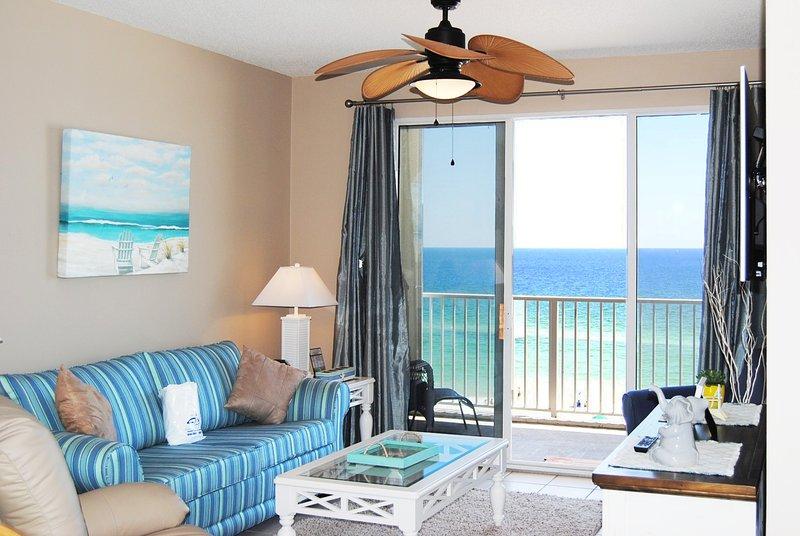 Living Room Gulf Dunes 608 Fort Walton Beach Okaloosa Island Vacation Rentals - Gulf Dunes Resort, Unit 608 - Fort Walton Beach - rentals