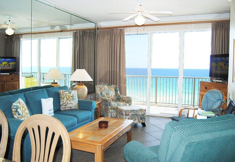Living Room Gulf Dunes 609 Fort Walton Beach Okaloosa Island Vacation Rentals - Gulf Dunes Resort, Unit 609 - Fort Walton Beach - rentals
