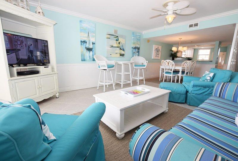 Living Room, Sandollar Townhomes Unit 12 Miramar Beach House Destin Vacation Rentals - Sandollar Townhomes, Unit 12B - Destin - rentals