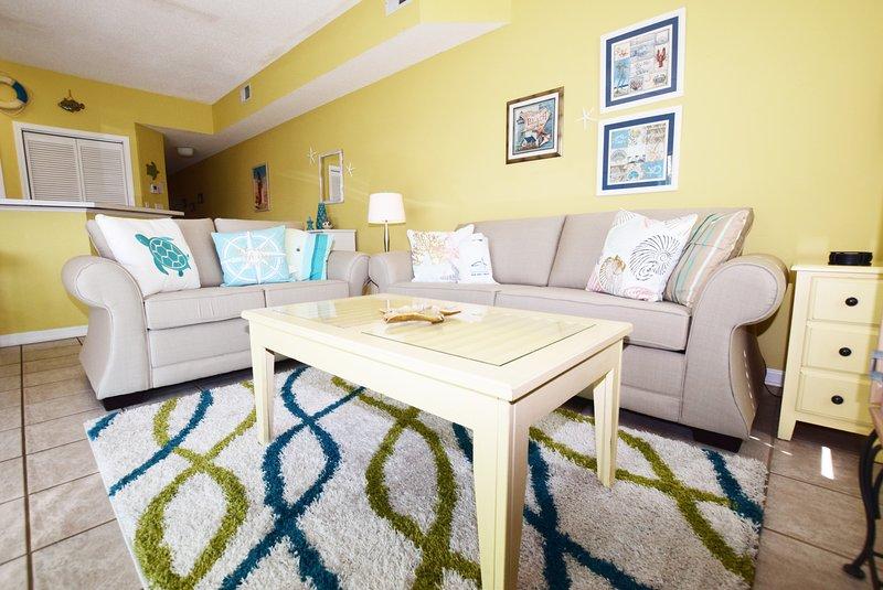 Living Room Sandpiper Cove Resort 9106 Holiday Isle Destin Florida Vacation Rentals - Sandpiper Cove Resort, Unit 9106 - Destin - rentals