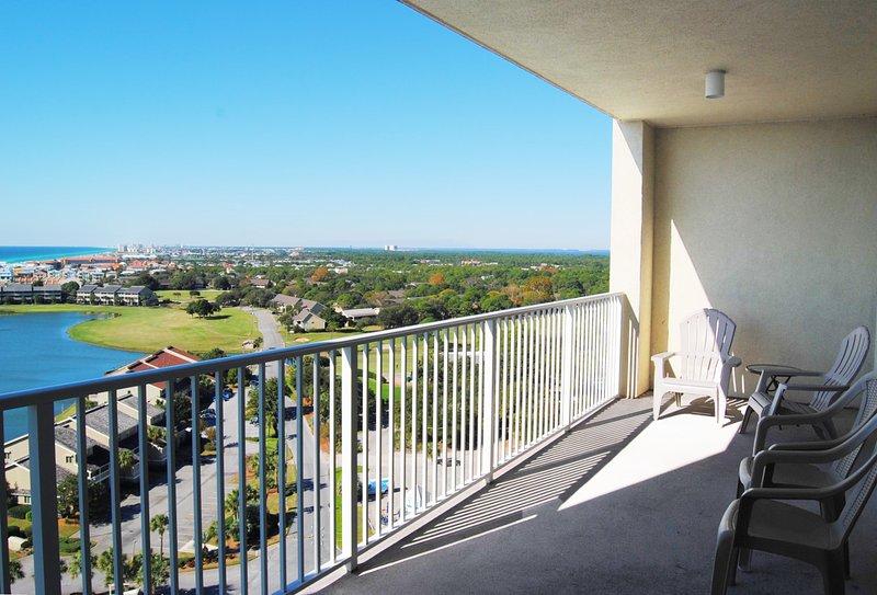 Balcony, Ariel Dunes II, Destin Vacation Condo Rentals - Ariel Dunes II Resort, Unit 1507 - Destin - rentals