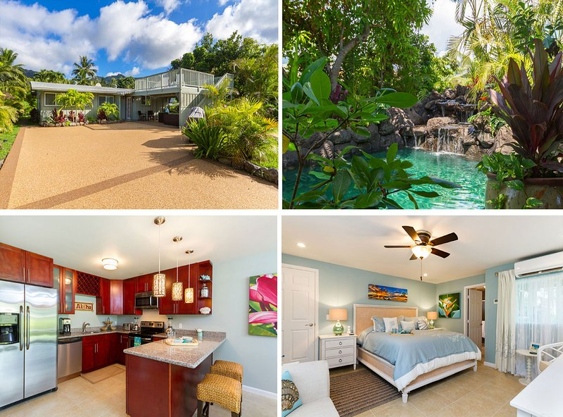 Luxurious Hawaiian Beach House~ Private Pool~Ocean View~ Steps to the Beach~AC! - Image 1 - Waimanalo - rentals