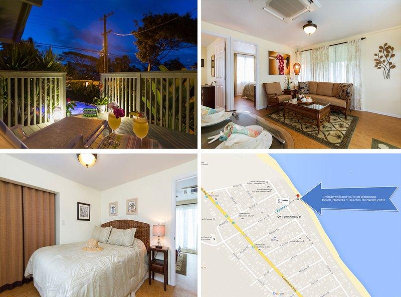 $280/NT Last Min. Booking Specials! Luxurious Hawaiian Beach Cottage - Image 1 - Waimanalo - rentals