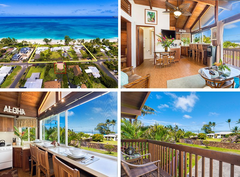 $150/NT Special May 17th~25th Ocean View Beach Cottage Steps from Beach - Image 1 - Waimanalo - rentals
