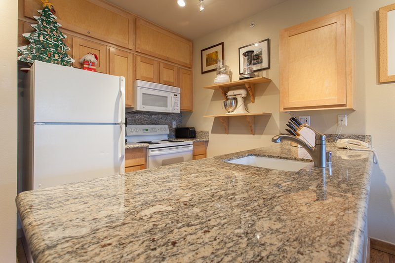 Gourmet Fully Equipped Kitchen; Granite Counter-tops - Juniper Springs Lodge  # 538 - Mammoth Lakes - rentals