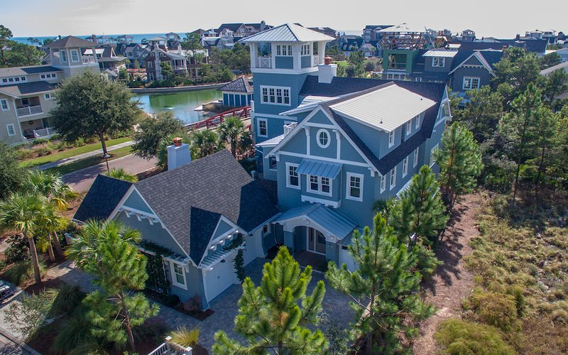 Aerial View of Home - Seaglass - Alys Beach - rentals