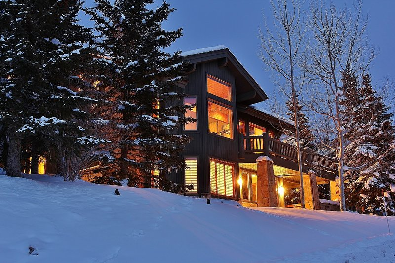 Exterior with large private decks - Deer Valley Bellemont Mansion - Park City - rentals